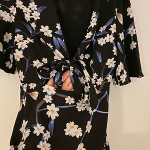 Nasty Gal Dresses - Floral print dress with cutout